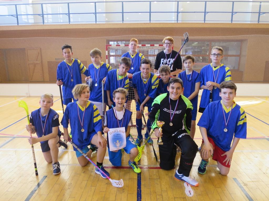Přátelský floorbalový turnaj žáků - Luhačovice