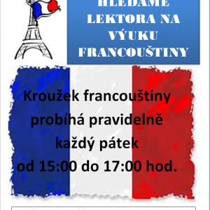 HLEDÁME LEKTORA/KU FRANCOUŠTINY