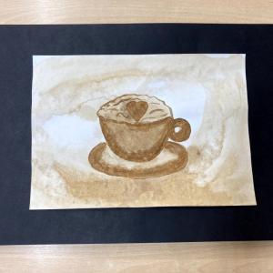 DDM ASTRA dětem: Malování kávou (Painting with coffee)